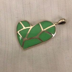 Sterling Silver Heart leaf Pendant